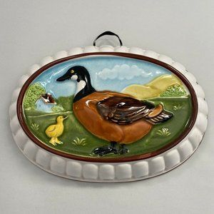 Ceramic Pottery Mold White Mallard Duck Gailstyn